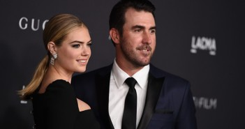 Kate Upton, left, and Justin Verlander arrive at the 2016 LACMA Art + Film Gala on Saturday, Oct. 29, 2016 in Los Angeles. (Photo by Jordan Strauss/Invision/AP) ORG XMIT: CAJS122