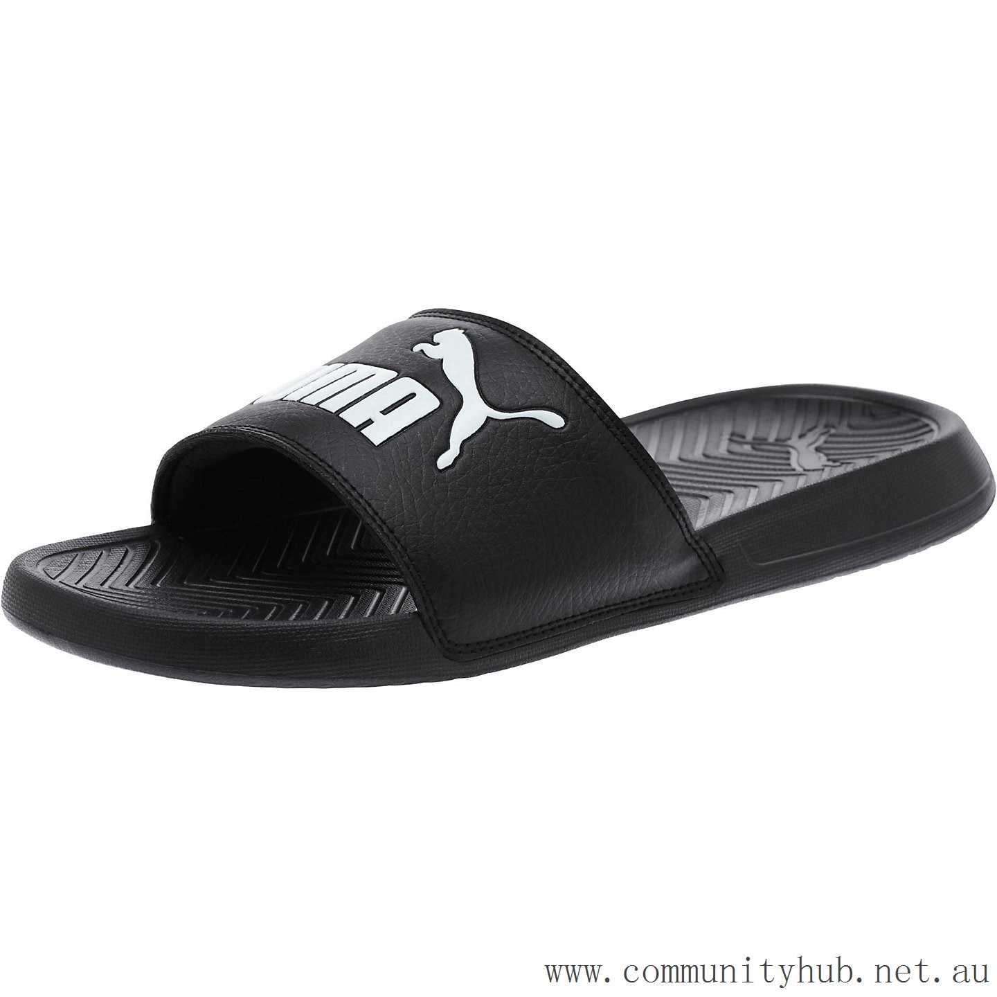 Cheapest Puma black-black-white PopCat Men s Sandals YN479