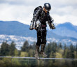Richard Browning jetpack demo at TED2017 - The Future You, April 24-28, 2017, Vancouver, BC, Canada. Photo: Bret Hartman / TED